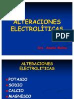 ALTERACIONES ELECTROLITICAS