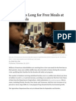 Line Grows Long for Free Meals at US Schools