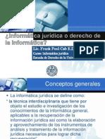 informática Jurídica o Derecho de La informática