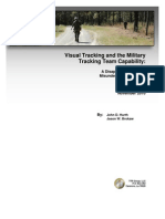 Visual Tracking and the Military Tracking Team Capability