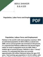 Population, Labour Force
