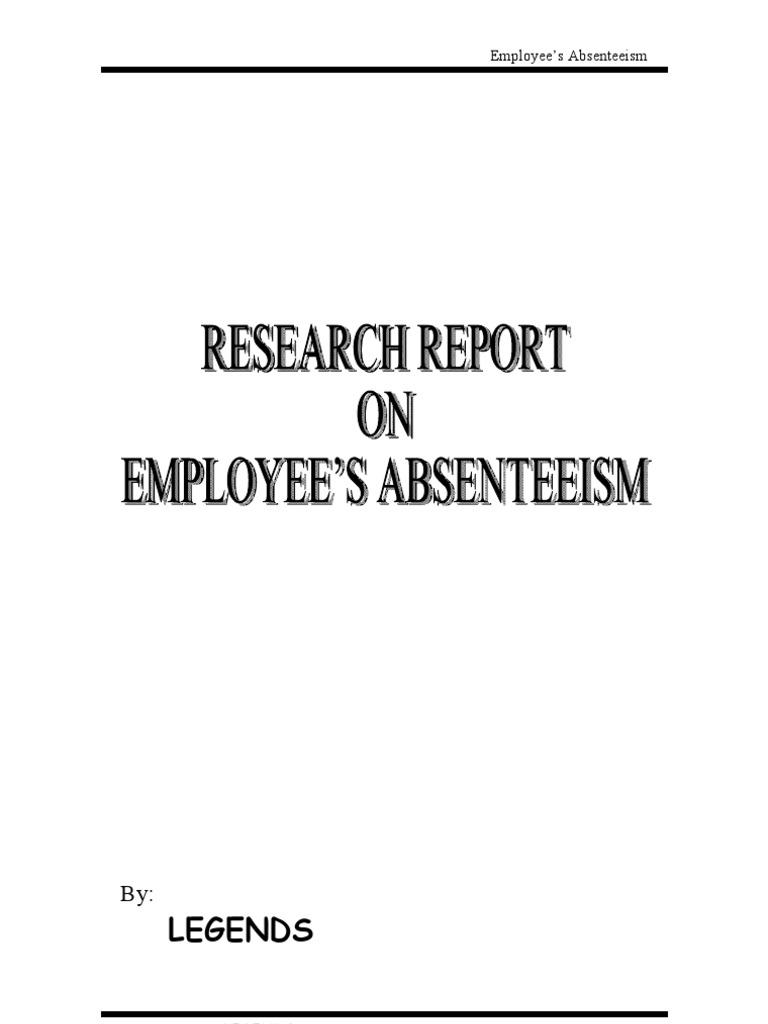 Absenteeism dissertation