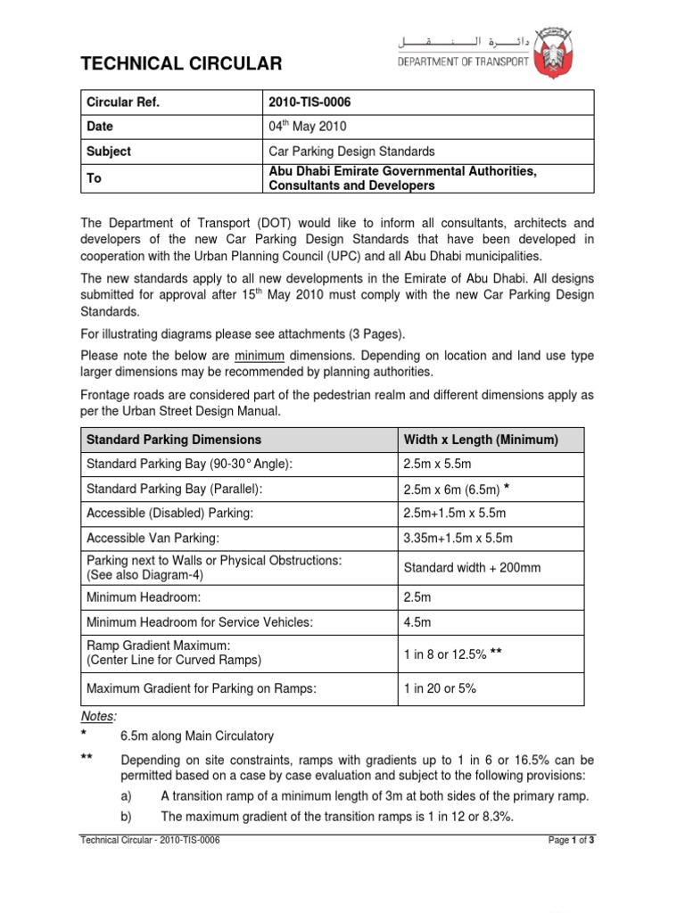 006 2010 Tis Car Parking Design Standards 04 May 2010 Parking