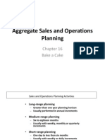 Aggregate Sales and Operations Planning(1)