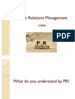 Public Relations Management Section 1