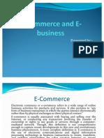 E Commerce and E Business