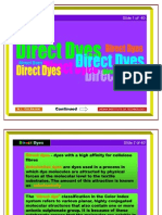 Lecture - 2&3 - Direct Dyes