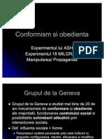 Conformism Si Obedienta