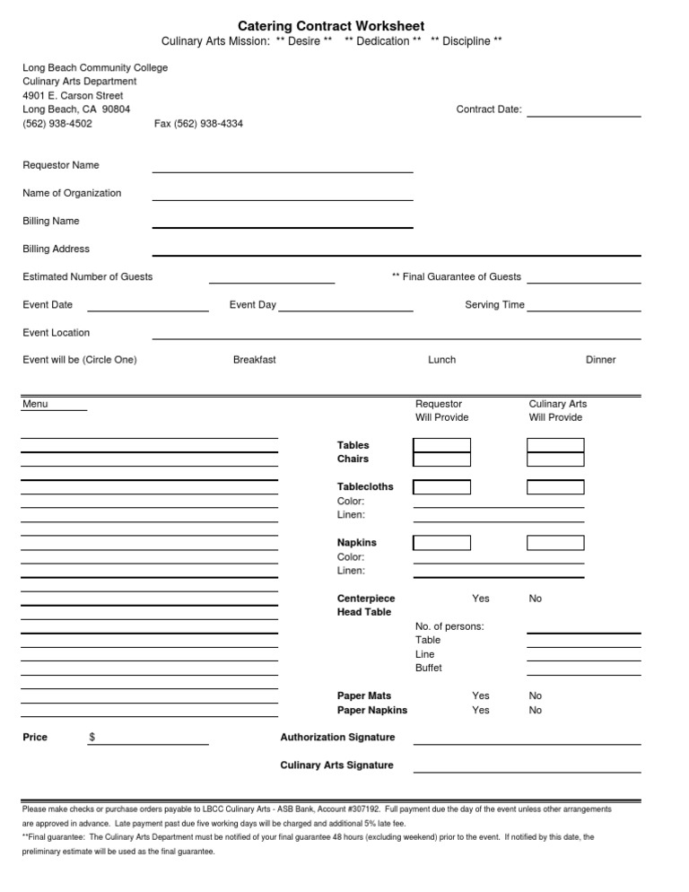 Catering contract template thecheapjerseys Images