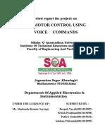 D.C Motor Control Using Voice Commands