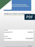 Clasificare Virusi Si Solutii Antivirus(Macari Pavel)
