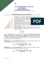 Funzioni Goniometriche o Circolari