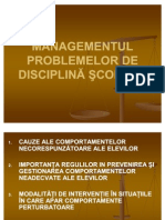 Managementul problemelor disciplinare_2011