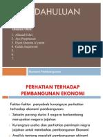 Presentation1 Ekonomi pembangnan