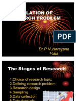 Formulation of research Problem by Dr. P.N.Narayana Raja