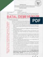 KONTRAK POLITIK BATAL