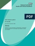 Obesity Management NICE Guideline