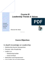 Leadership Trends and Values