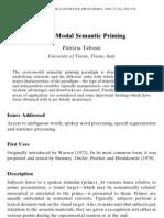 Cross Modal Semantic Priming