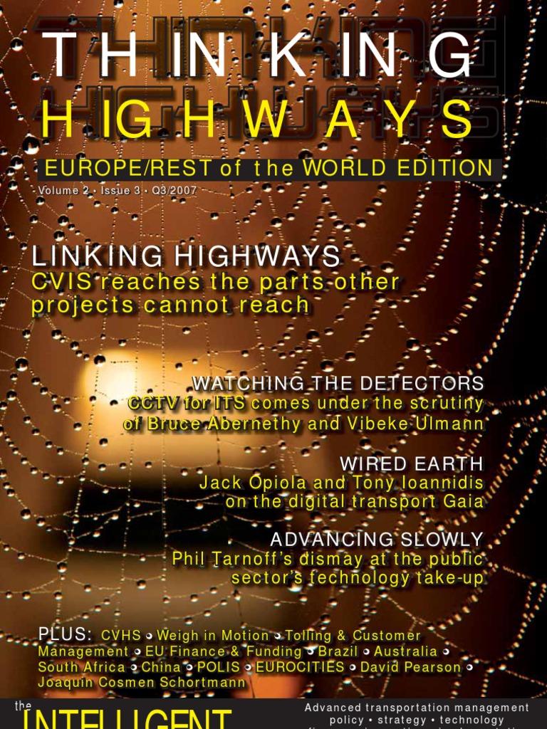 Thinking Highways Europe/RoW September 2007 | Traffic | Traffic ...