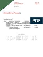 Pqr 1070 Certified Supplier Program