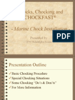 Marine Chock Installation