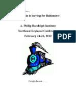 APRI Northeast Baltimore Conference Info