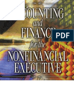 Accounting and Finance for the Non Financial Executive - An Int