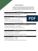 Course Schedule- Unit 1 & 2
