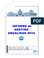 INFORME de GESTIÓN 2010 P.P. Sevilla la Nueva