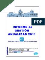 INFORME de GESTIÓN 2011 P.P. Sevilla la Nueva