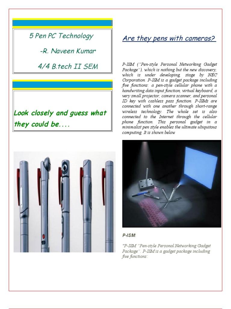 WRG-7170] Block Diagram Of 5 Pen Pc Technology on