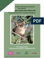 Mirza Zaza Ecology - MSc Dissertation Johanna Rode 2010