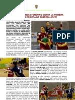 DIVISION de HONOR FEMENINA ALCOBENDAS-PORRIÑO (29-22) 21ENERO2012