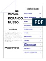 SsangYong Musso '98 - Service Manual