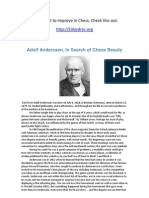 Adolf Anderssen, In Search of Chess Beauty