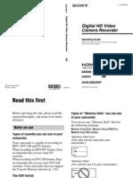Sony Zx5 Manual