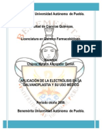 APLICACIÓN DE LA ELECTRÓLISIS EN LA GALVANOPLASTIA Y SU USO MÉDICO