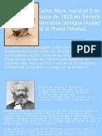 Carlos Marx, nació el 5 de mayo