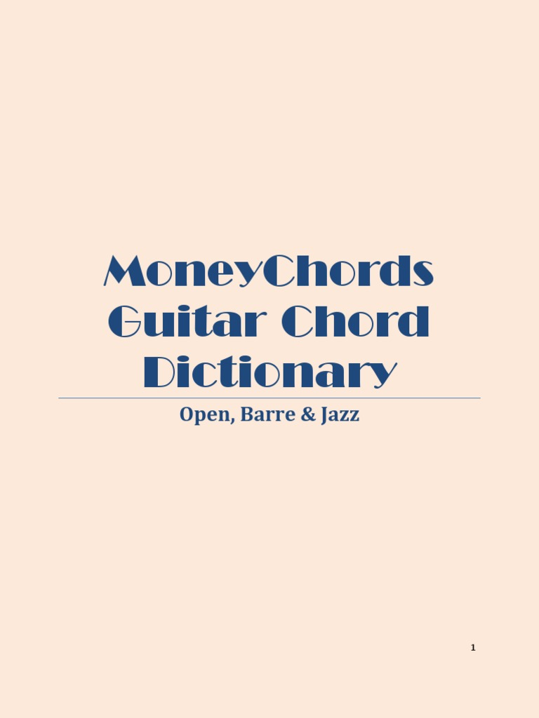 Money Chords Guitar Chord Dictionary