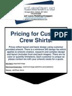 Custom Sailing Shirts Updated Nov 2011 Price List