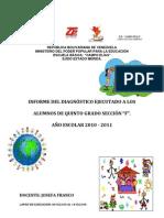 Informe de La Diagnosis Elaborado Por La Prof Josefa Franco