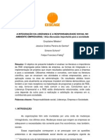 A INTEGRAÇÃO DA LIDERANÇA E A RESPONSABILIDADE SOCIAL NO AMBIENTE EMPRESARIAL2