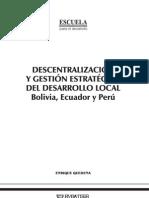Descentralización y gestión estratégica del desarrollo local