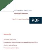 Juan Miguel Campanario La ciencia que no enseñamos