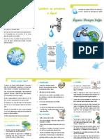 Folheto de poupança de água-novo