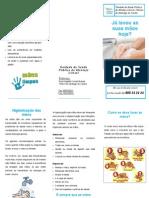 Folheto de higiene das mãos - população