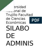 Universidad Nacional de Trujillo Facultad de Ciencias Económicas