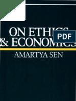 Amartya Sen on Ethics and Economics