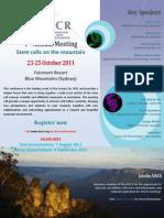 Australian Stem Cells Conference Flyer Oct 2011